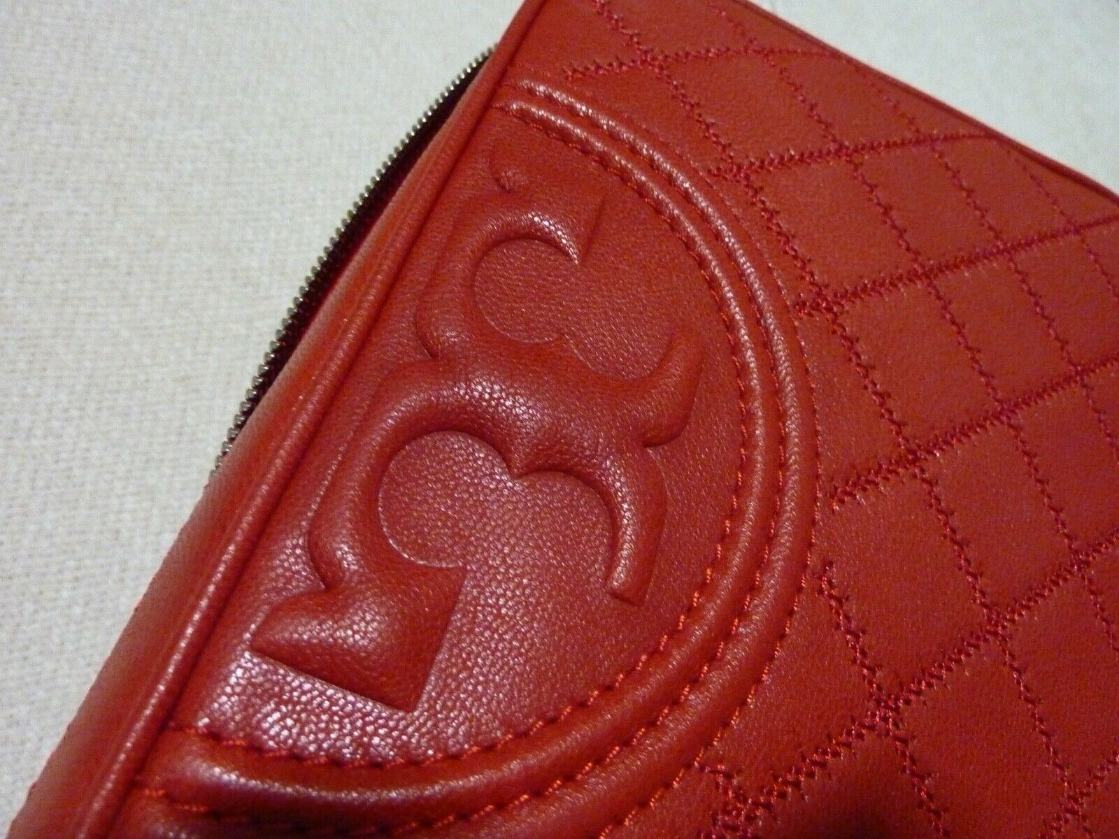 NWT Tory Burch Cherry Apple Distressed Leather Fleming Camera Crossbody Bag