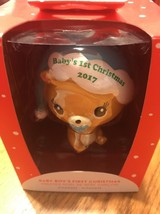 Carlton/American Greetings 2017 Baby Boy's First 1st Christmas Bear Orna... - $17.44