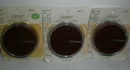 Covergirl Clean Pressed Powder #105 Ivory Normal Skin Compact Lot of 3 WORN PACK - $18.22