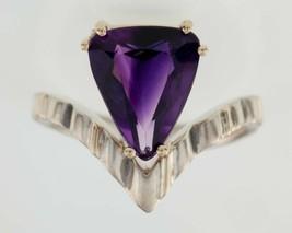 Garbis Amethyst Sterling Silver & 14K Gold Ring (Size 8.25) - $89.45