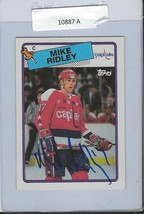Mike Ridley 1988 Topps Autograph #104 Capitals - $18.58