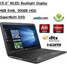 "HP 15.6"" HD WLED Backlit Display Laptop, AMD A6-7310 Quad-Core APU 2GHz,... - $400.00"