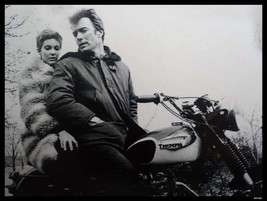 Clint Eastwood / Triumph Motorcycle Metal Sign - $30.00