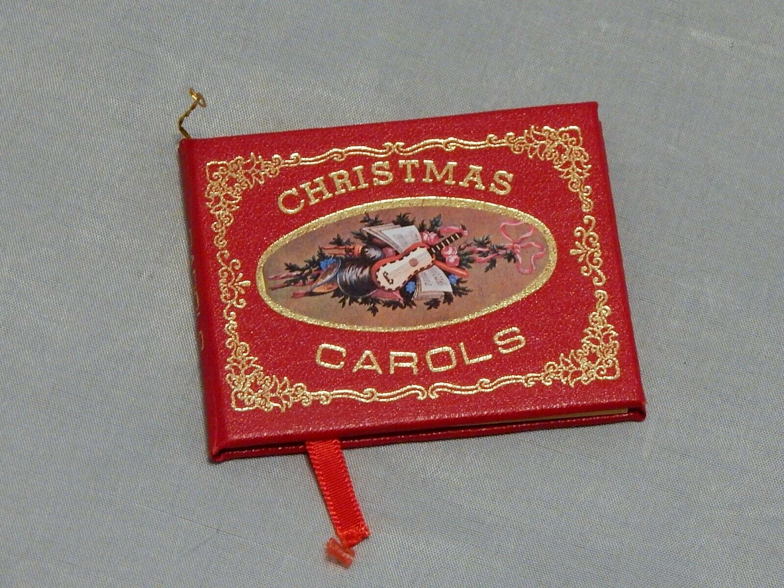 Primary image for Vintage Christmas Ornament Miniature Christmas Carols Book
