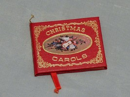 Vintage Christmas Ornament Miniature Christmas Carols Book - $5.69