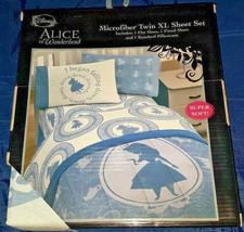 Disney Alice in Wonderland Microfiber Twin XL Sheet Set - NEW - $35.99