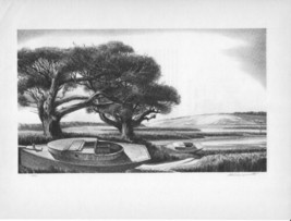 """Art Plate/Print 1939 """"Quiet Day"""" by Stow Wengenroth - $8.99"""