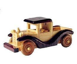 PANDA SUPERSTORE Vintage Handmade Wooden car Model Home Furnishing Decoration-D - $20.95