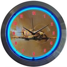 """Supermarine SpitFire Neon Clock 15""""x15"""" - $59.00"""