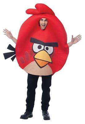 Rovio Angry Birds Red Costume Adult Halloween Party Unique Funny PM751813