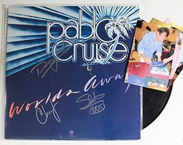 "Pablo Cruise Band Signed Autographed ""Worlds Away"" Record Album w/ Signing Photo - $59.39"