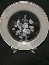 Avon Hummingbird Etched Lead Crystal 2 x 8 Inch Dessert Plates WOBox - $11.83