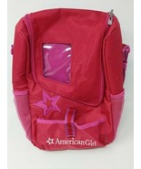 """American Girl Carrier 15"""" Shoulder Backpack Travel Case Accessories Red ... - $34.64"""