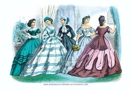 Mme. Demorest's Mirror of Fashions, 1840 #4 - Art Print - $19.99+