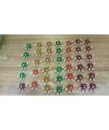 Lot of 40 1993 M&M Happy Lights Christmas Bulb Toppers / Covers Red Gree... - $49.49