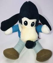 "Vintage Mickey's Christmas Carol Goofy 7"" Plush Stuffed Animal Lovey Blu... - $17.81"