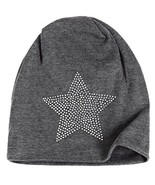 Unisex Men Women Classic Star Rhinestone Slouch Beanie Cap Cotton Hat Da... - $7.87