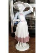Goebel A. RUIZ Young Woman Girl Figurine Vintage 1980's Porcelain - $35.00