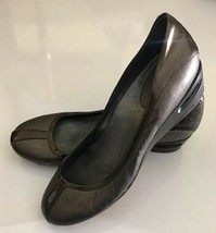 COLE HAAN Women's Brown Metallic Leather Air Tali Wedge Pumps Size 9 B - $29.69