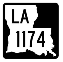 Louisiana State Highway 1174 Sticker Decal R6401 Highway Route Sign - $1.45+