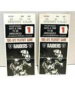 Patriots vs Raiders 1985 AFC Playoff Ticket Stubs LA Memorial Coliseum - $24.99