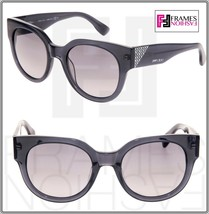 JIMMY CHOO OLA Translucent Grey Crystal Mirrored Square Sunglasses Ola/S Women - $212.85