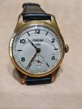 Pobeda 15 Jewels Gold plated AU20 mens wrist watch vintage 1950s USSR RARE  - $83.99