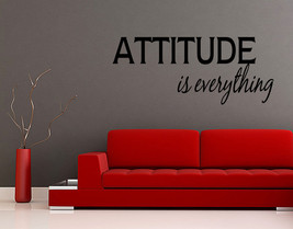 Wall Decal Attitude Is Everything Sticker Room Decor Mural Quote Saying Gift V69 - $11.29+