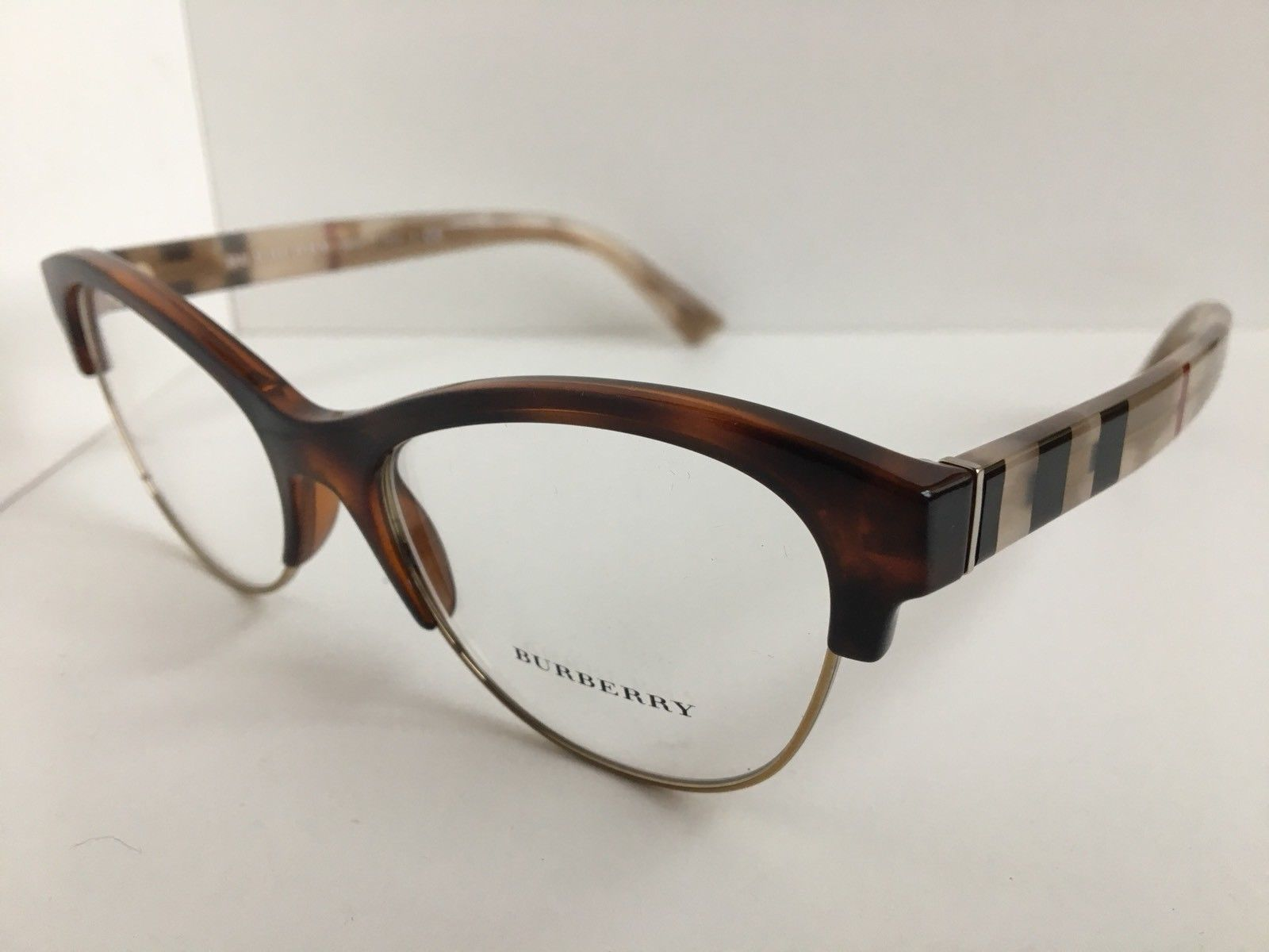 c65a8bf960ab New BURBERRY B 2235 3601 53mm Brown Cats Eye and 50 similar items