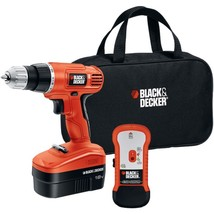 BLACK+DECKER(TM) GCO18SFB 18-Volt Cordless Drill & Stud Sensor Kit - $105.61