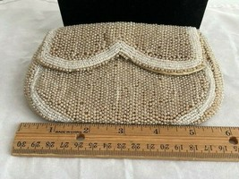 "Vintage Antique Clutch / Purse ""Jacqueline Mode D.S."" Beaded With Mirror - $4.95"