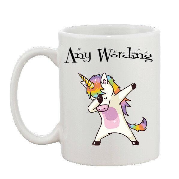 Personalised Dab Dabbing Unicorn Funny Joke Mug 10oz