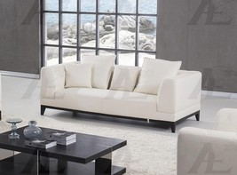American Eagle EK065-W White Sofa Italian Leather - $1,847.00