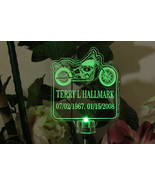 Personalized Harley Motorcycle Solar Light grave marker, garden light, m... - $38.00