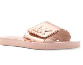 Michael Kors MK Slide Sandals Flops Rose Gold Size US 8M / IT 38 - $56.42