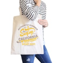 Authentic Summer Surfing California Natural Canvas Bags - $21.22 CAD