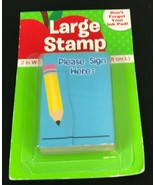 Please Sign Here Wood Mounted Rubber Stamp NEW SEALED Elementary School ... - $7.77