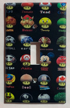 Mushroom icon mario DC Pokemon + Light Switch Outlet wall Cover Plate Home Decor image 1
