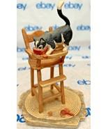 "Lowell Davis ""Leftovers"" Figurine 1987 Schmid Cat Bowl Chair 225290 - $66.81"