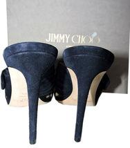 Jimmy Choo Marine Wildleder Keely Slip Pantolette 39.5 Sandalen Schleife Knoten image 5