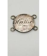 1858 Hattie Seated Liberty Dime Original Antique Love Token Token Bracel... - $123.75