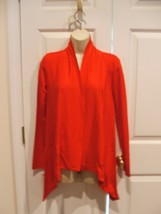 Nwt $ 44 Liz CLAIBORNE- Red Open Front Cardigan Sweater Wrap Jacket, Xsmall - $27.71