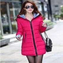 Hooded Zipper Long Padded Ladies Winter Jacket - $57.00