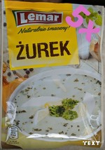 5 x LEMAR POLAND Sour rye Żurek Zurek Powdered Soup (5x50g) - $10.45