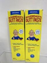 (2) Boudreaux's Original Butt Paste Diaper Rash Zinc Oxide 4 oz - $7.91