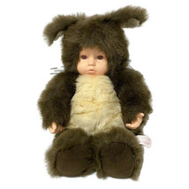 "Anne Geddes Squirrel Plush Baby Doll Brown 10"" Sitting Realistic Face Vt... - $28.05"
