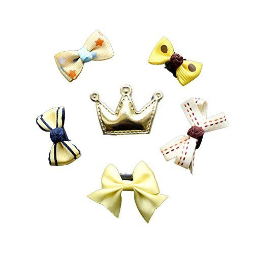 Hair Clip Set 6 Pieces Yellow Snap Clips Hair Barrettes Hairpins Hair Clips Girl