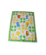 "Vintage Thats Our Baby Quilt Blanket bunny teddy bear bird lamb 36"" x 43"" - $27.69"