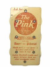 Vintage 1920s Babe Ruth Baseball Scorer Celluloid New York American The Pink MLB - $121.51
