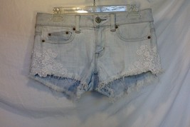 American Eagle Outfitters Women Stretch Distressed Jean Shorts White Was... - $5.93